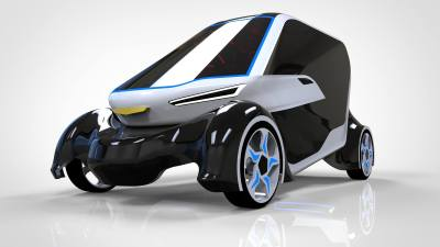 Two Seat Carbon Fiber Car Concept